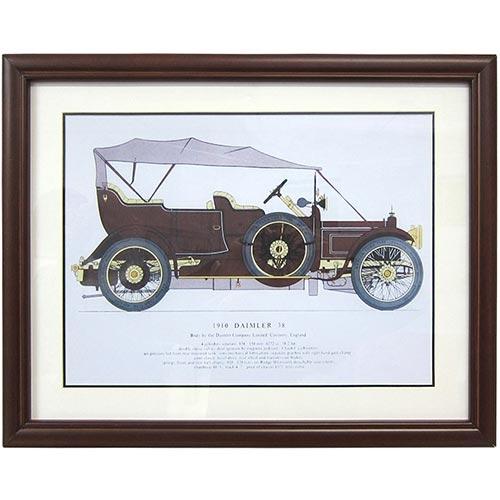 Quadro Calhambeque 1910 Daimler 38 em Madeira - 56x45 cm