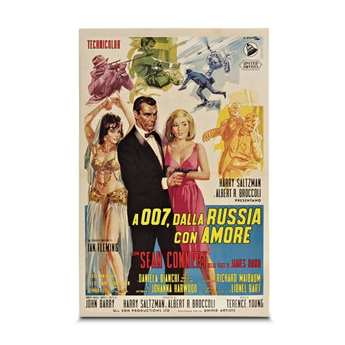 Quadro em Canvas 007 From Russia With Love - 45x30 cm