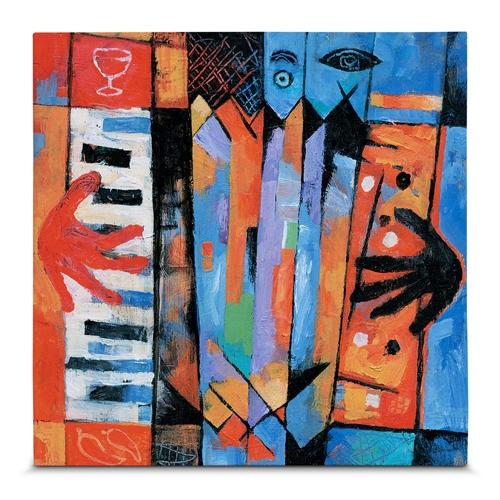 Quadro em Canvas Acordeom - Colors - 55x55 cm