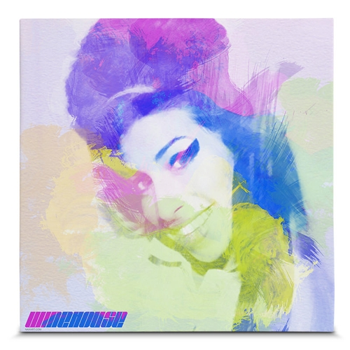 Quadro em Canvas Amy Winehouse - 45x45 cm