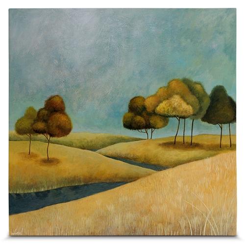 Quadro em Canvas Árvores no Campo - 55x55 cm