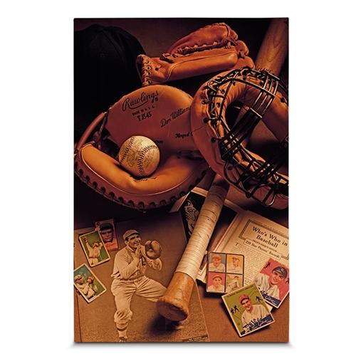 Quadro em Canvas Baseball Objects - 60x40 cm