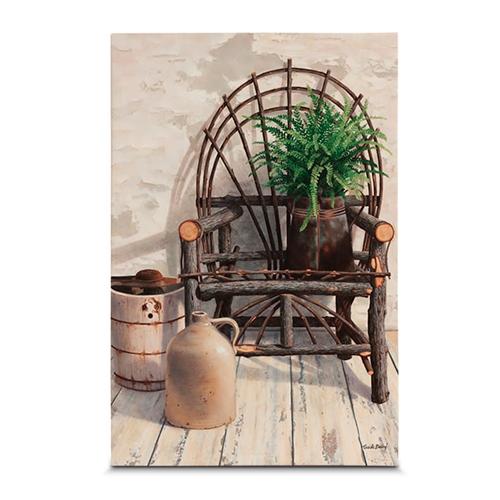 Quadro em Canvas Cadeira de Vime - 60x40 cm