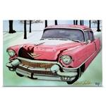 Quadro em Canvas Cadillac Vermelho
