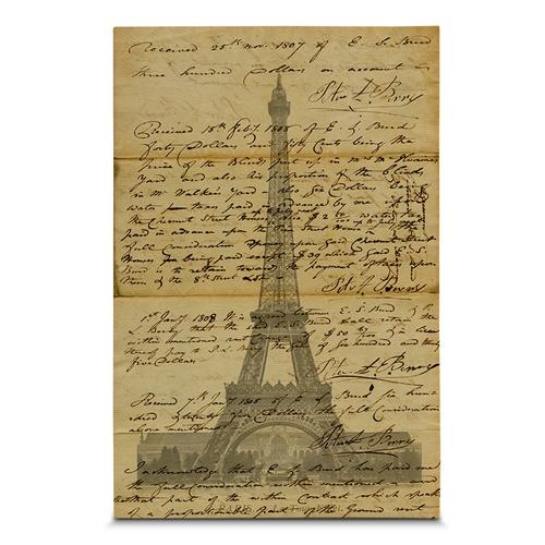 Quadro em Canvas Carta de Paris - 60x40 cm