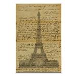Quadro em Canvas Carta de Paris