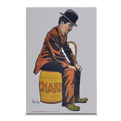 Quadro em Canvas Charlie Chaplin - Colors - 60x40 cm