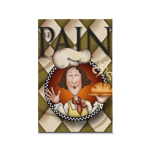 Quadro em Canvas Chef Pão Quentinho - 45x30 cm
