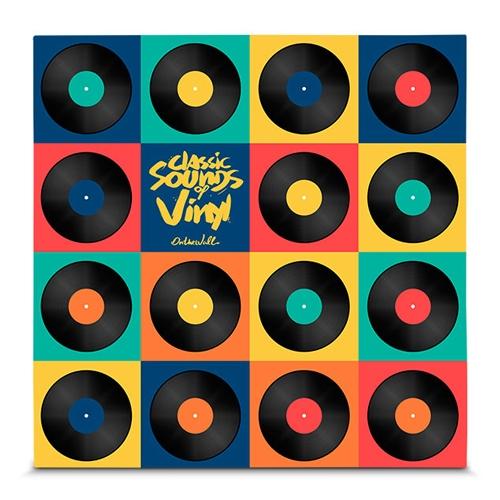 Quadro em Canvas Classic Sounds of Vinyl - Colors - 45x45 cm