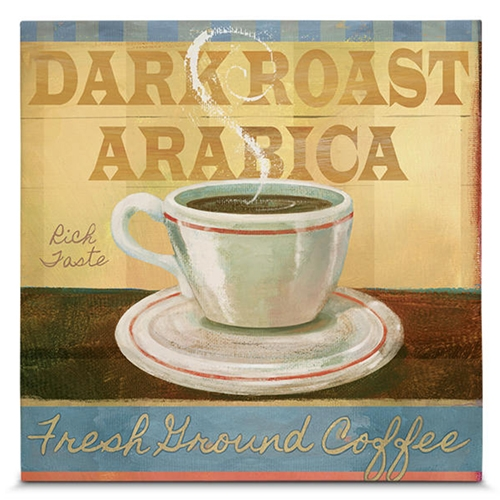 Quadro em Canvas Dark Roast Arabica  - 35x35 cm
