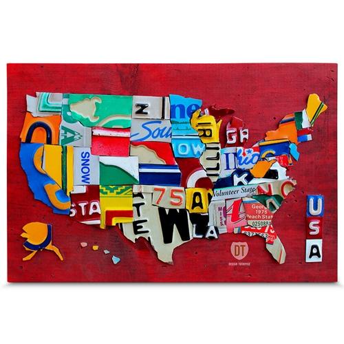 Quadro em Canvas Estados Unidos da América - 90x60 cm