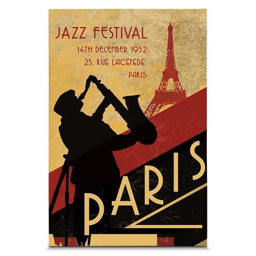 Quadro em Canvas Festival de Jazz - 60x40 cm