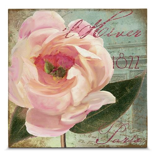 Quadro em Canvas Flor de Paris - 45x45 cm
