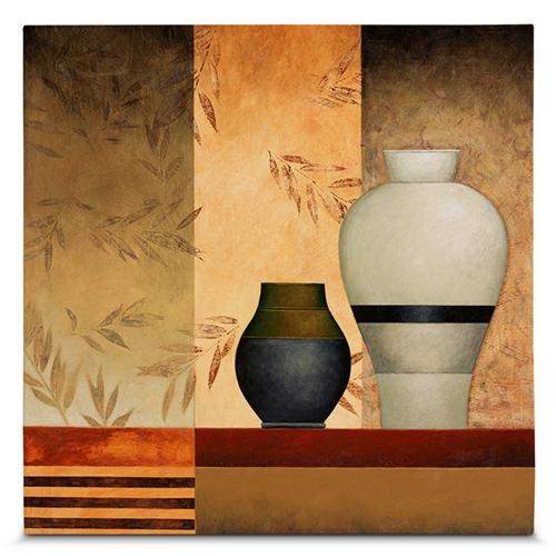 Quadro em Canvas Jarros - 45x45 cm