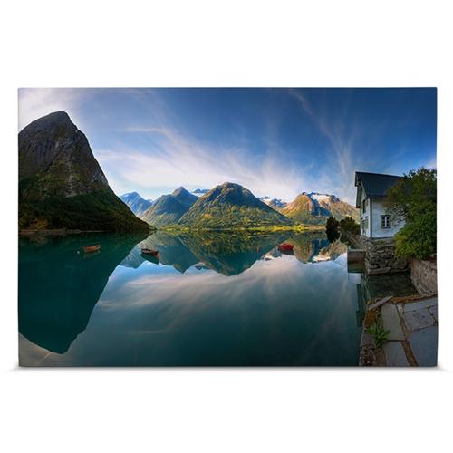Quadro em Canvas Lago e Montanhas - 60x40 cm