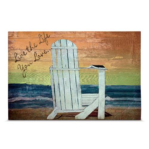 Quadro em Canvas Live The Life You Love - 45x30 cm