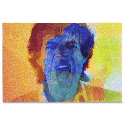 Quadro em Canvas Mick Jagger - 90x60 cm