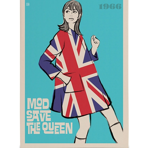 Quadro em Canvas Mod Save The Queen - 60x40 cm