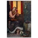 Quadro em Canvas Mulher com Violino