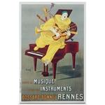 Quadro em Canvas Musico e Seus Instrumentos