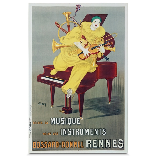 Quadro em Canvas Musico e Seus Instrumentos - 90x60 cm