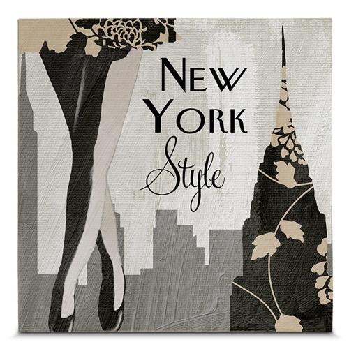 Quadro em Canvas New York Style - 45x45 cm