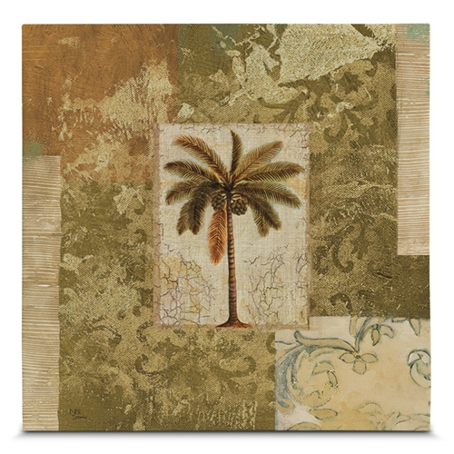 Quadro em Canvas Palmas Tropicais - 45x45 cm