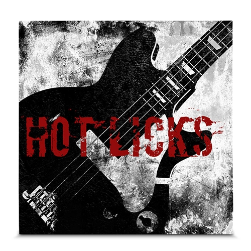 Quadro em Canvas Rock N Roll - Guitarra  - 35x35 cm