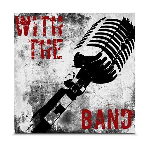Quadro em Canvas Rock N Roll - Microfone - 35x35 cm