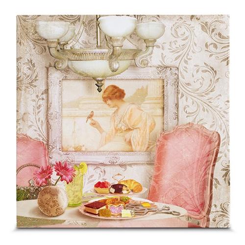 Quadro em Canvas Salão de Chá - 35x35 cm