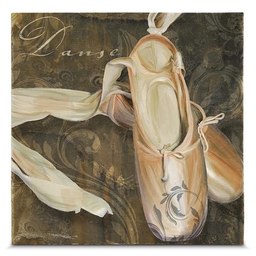 Quadro em Canvas Sapatilha de Bailarina - 45x45 cm