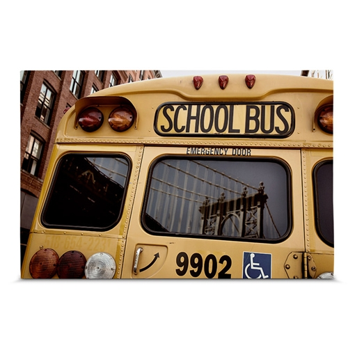 Quadro em Canvas School Bus - New York - 60x40 cm