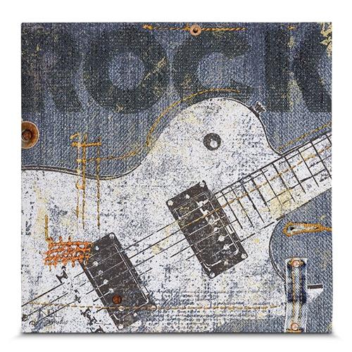Quadro em Canvas Show de Rock - Guitar - 35x35 cm