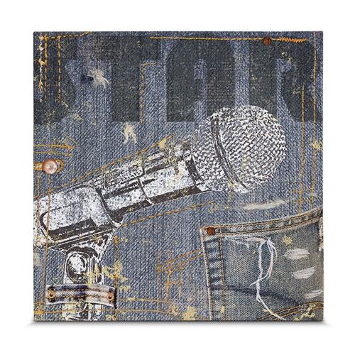 Quadro em Canvas Show de Rock - Microphone - 35x35 cm