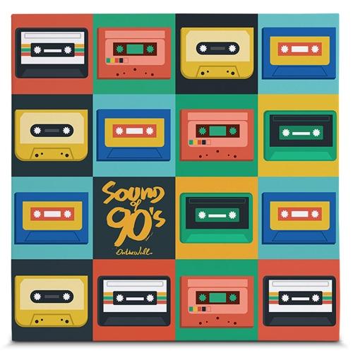 Quadro em Canvas Sound of 90s - Colors - 45x45 cm