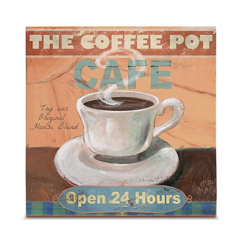 Quadro em Canvas The Coffee Pot - 35x35 cm