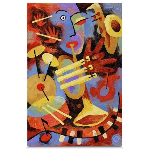 Quadro em Canvas Tocando Jazz - 90x60 cm