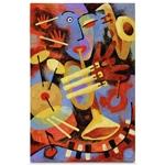 Quadro em Canvas Tocando Jazz