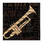 Quadro em Canvas Trompete - Jazz