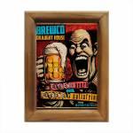Quadro Cartoon Cervejas Extremas Multicolorido em Madeira