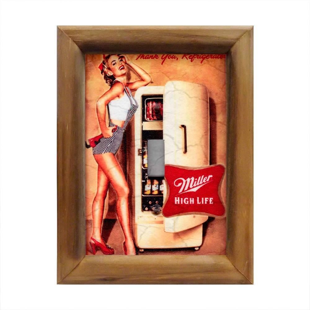 Quadro Cerveja Miller High Life em Madeira - 26x20 cm