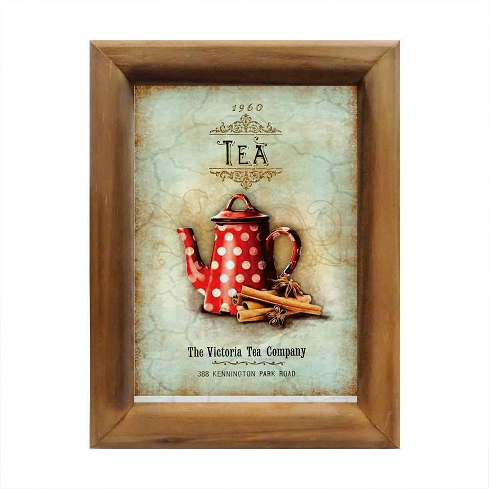 Quadro Chá de Canela 1960 Vintage em Madeira - 26x20 cm