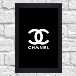 Quadro Chanel grande (c/ moldura)
