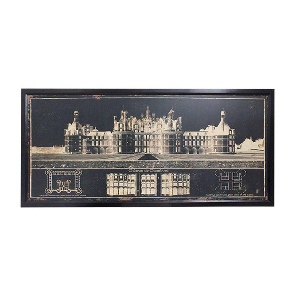Quadro Chateau de Chambord na França Oldway - 200x90 cm