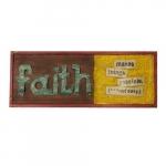 Quadro colagem ferro faith