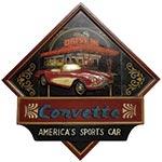 Quadro Corvette Vermelho Oldway