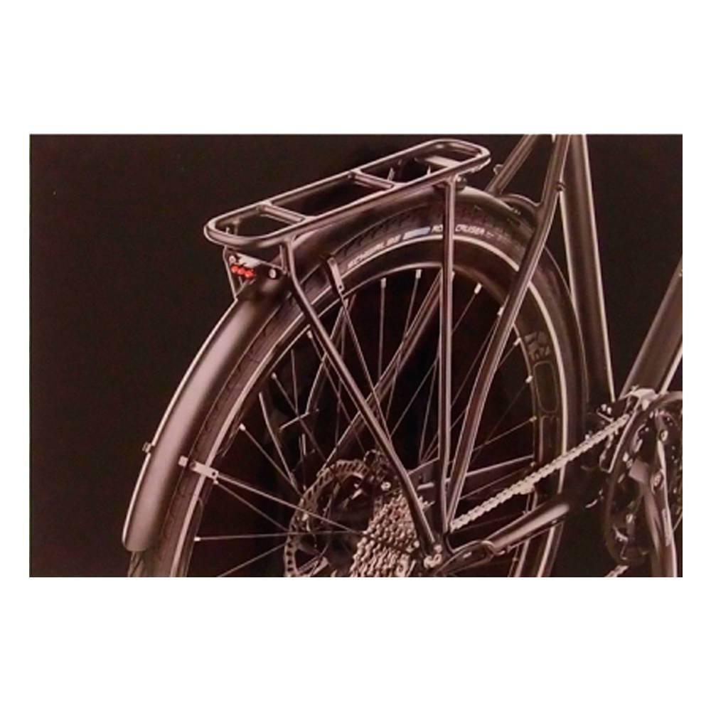Quadro Decorativa Garupa de Bicicleta Preta em Vidro - 30x20 cm