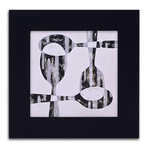 Quadro Decorativo 4 Colheres em Madeira - 43x43 cm