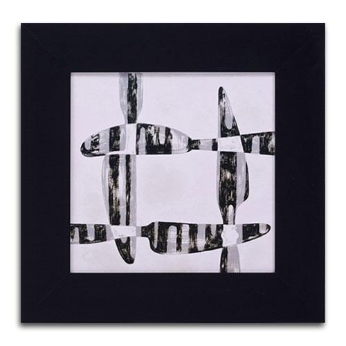 Quadro Decorativo 4 Facas em Madeira - 43x43 cm
