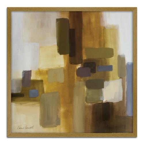 Quadro Decorativo Abstrato II em Madeira Crua - 63x63 cm